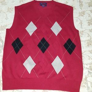 Alan Flusser Argyle Sweater Vest, 100% cotton